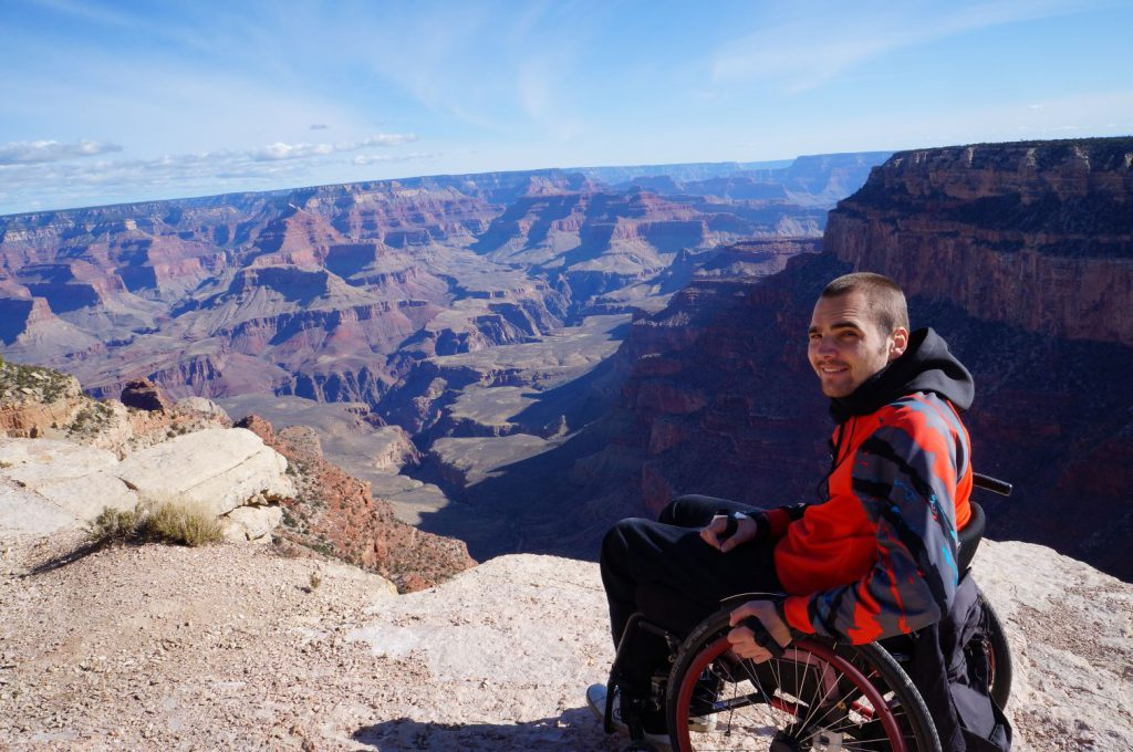 Sebastian Wächter am Grand Canyon
